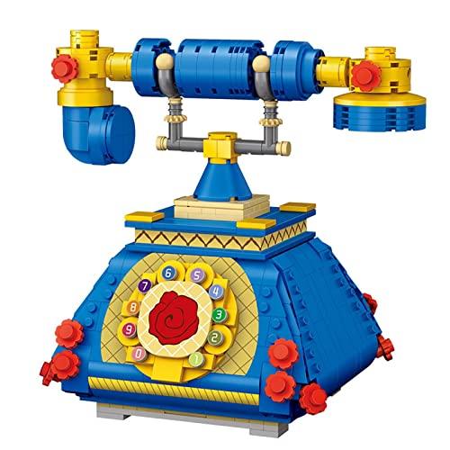 Liteness 633pcs Teléfono 3D Mini Particle Puzzle Juguete - Retro Teléfono Puzzle Paquete 3D Estéreo Teléfono Puzzle Puzzle Mejor Regalo Para Niños