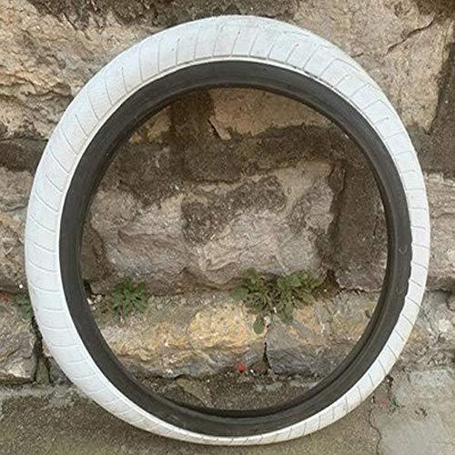 llsdls 20 Pulgadas de la Bici de BMX de Neumáticos 406 Neumáticos 20 * 2.4 neumáticos de Bicicletas de Colores (Color : White)