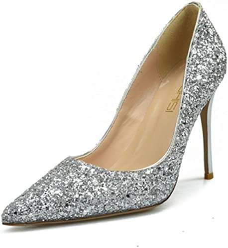 ZPLzapatos zapatos De Tacón para mujer,Clasico Resbalon En zapatos De Tacón con Punta Cerrada para mujer Vestido