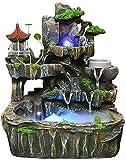 L.TSN Simulación de Fuentes Interiores Reacute; sine Rockery Waterfall Statue Fuente de Oficina Fuente de Meacute, Fuente de Geacute, Casa romántica de Feng Shui