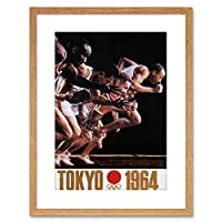 Sport Ad Exhibition Olympic Games Tokyo 1964 Framed Wall Art Print