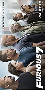 Fast and Furious 7 Movie Poster  12 x 24   Special Thick Poster Paul Walker Vin Diesel The Rock Michelle Rodriguez