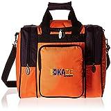 KAZE SPORTS Deluxe 1Boule de Bowling Sac fourre-Tout avec Deux Poches latérales, 1TT216-ORPP, Orange/Violet