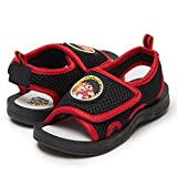 Ryan's World Boy's Mesh Sandals, Rugged Rubber Sole Kids Sandal, 5-12 Red