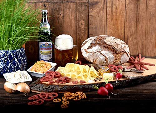 WURSTBARON® - DAS bayerische Oktoberfest Paket - Salami-Brezn, Emmentaler, Obazda, Holzofenbrot und bayerisches Bier - Zuhause feiern wie auf der Münchner Wiesn