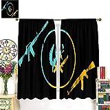 Petpany Csgo- Global Offensive Art Illustration - Cortinas de microfibra de edición limitada, 183 x 160 cm, para cocina y cocina, bolsillo para barra de cortina para dormitorio/sala de estar