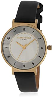 Kenneth Cole Womens Quartz Watch, Analog Display and Leather Strap KC50075002