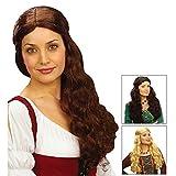 WIDMANN Blonde Medieval Tavern Lady Fancy Dress Wig (peluca)