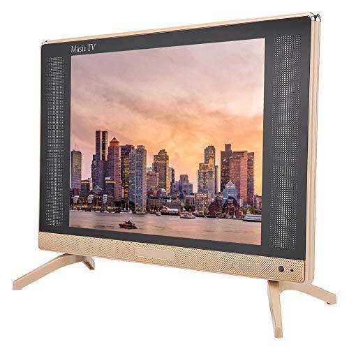 Topiky 24 inch HD LCD TV, draagbaar 1366x768 16:9 260 CD/m2 LCD houder televisie 1080P Digital analoge TV desktop/muurtv met basgeluid kwaliteit, ondersteuning HDMI/USB/VGA/TV/AV voor thuis, EU.