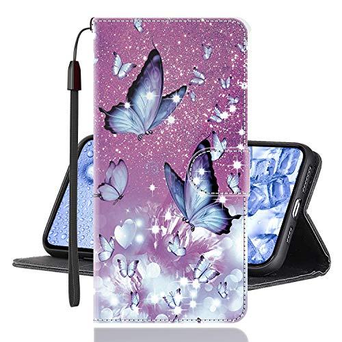 Sinyunron Klapphülle für Handy Xiaomi Mi Mix 3 5G Hülle Leder Brieftasche Handytasche,Klapptasche Lederhülle Hüllen Hülle Schutzhülle Tasche Cover (Hülle-06B)