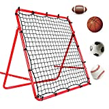 DRNM Soccer Rebound Net - 40×40 in Football/Soccer/Baseball/Basketball Rebounder Net Portable Training Soccer Net for Kids and Teenagers - Perfect for Backyard Soccer Practice, Easy to Set up