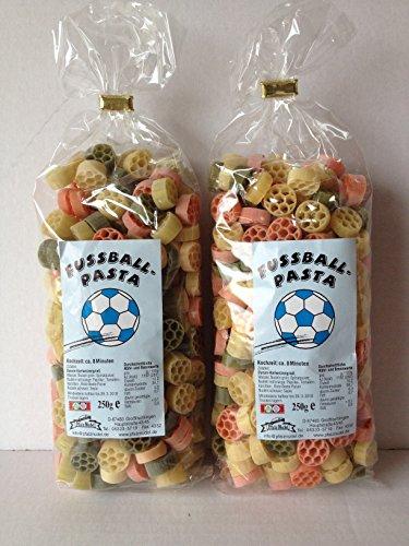 Motivnudeln Nudeln Pasta 2er Pack 250g Durum Hartweizengrieß (Fussball 2er Pack)