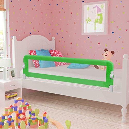 Festnight- Kinder Bettgitter Bettschutzgitter 150cm für alle Kinderbetten, Einzelbetten, Doppelbetten Grün 150 x 42 cm Grün