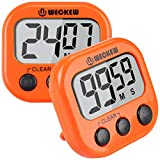 WECKEW Digital Kitchen Timer, Cooking Timer, Large Display, Strong Magnet Back, Loud Alarm