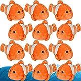 ArtCreativity Clown Fish Toys for Kids, Set of 12, Clownfish Plush Toys, Stuffed Animal Toys,...