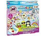 CRAZE- Cuentas de fusibles Fuse Splash BEADYS Stencil Set para Craft Beads Girls Motive 11096, Multicolor