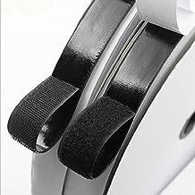 Arlent 自己接着面ファスナーテープ粘着バックストリップ接着剤付き布ファスナー取り付け用画像固定工具(3/4インチ、黒)