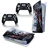Star-Wars Jedi Games Themed PS5 Skin Stickers Full Body Vinyl Skins Wrap Decal Cover para Playstation 5 consola y 2 controladores anti polvo edición digital