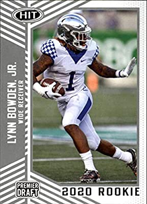 2020 SAGE HIT Premier Draft (NFL) Silver #1 Lynn Bowden Jr. Kentucky Wildcats Pre-Rookie RC Official Player Licensed Football Trading Card