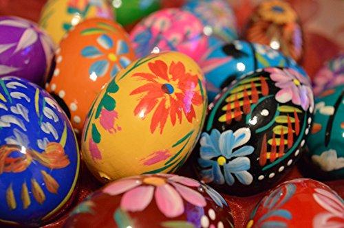Polnische hölzerne Eier – Ostereier- hölzernes handgemaltes Ei