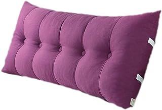 Almohadas de lectura Triangular Grande, cojín de cabecera de Almohada de cuña Triangular para Cama Doble Tatami, Funda de Lavado extraíble (Color : Purple, Size : 120 * 60 * 20cm)