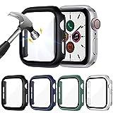LORDSON 4-Pack Pellicola Protettiva compatibile con Apple Watch Series 6 / SE / 5/4 44mm Vetro Temperato Cover Custodia, Copertura Completa Antigraffio per PC Opaco Protezione Schermo
