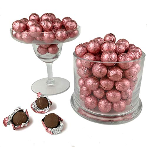 Light Pink Foiled Wrapped Chocolate Balls