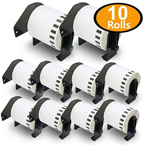 BETCKEY - Compatible DK-2212 Continuous Matte Film 2-3/7' x 50' Replacement Labels,10 Rolls Compatible with Brother QL Label Printers