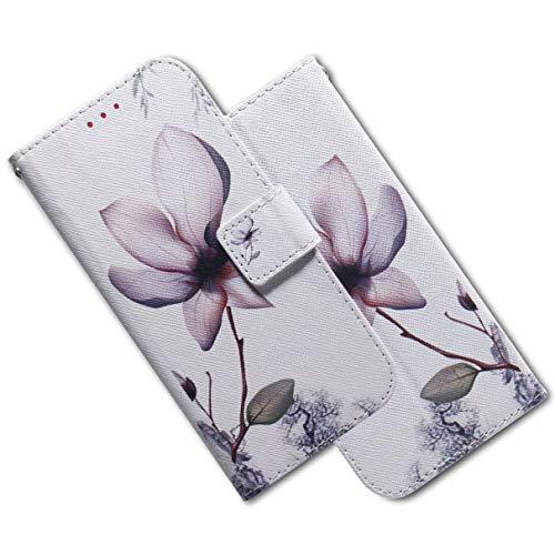 MRSTER Nokia 2.2 Hülle Leder, Langlebig Leichtes Klassisches Design Flip Wallet Hülle PU-Leder Schutzhülle Brieftasche Handyhülle für Nokia 2.2. EF PU- White Lotus