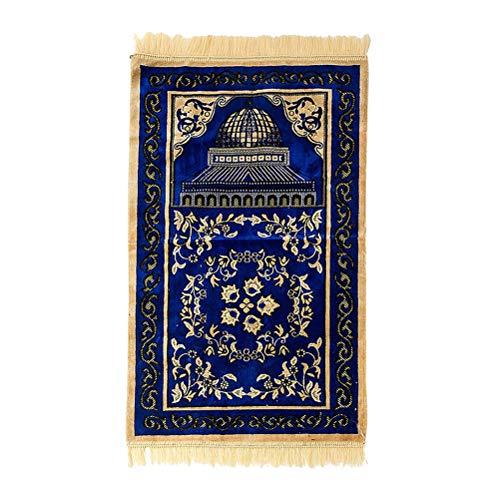 TAAMBAB Alfombra de Oración para Musulmán Islámicos Turcos - Clásica Alfombra de Peregrinación janamaz sajjadah Eid Gift Prayer Mat Muslim Carpet