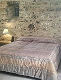 Bassetti - Trapunta GRANFOULARD Matrimoniale Urbino col. G1 Grigio cm. 260x260 in 100% Cotone Americano, Imbottitura in Poliestere Anallergico da 320 gr/mq. Made in Italy