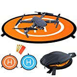 Homga Drones Landing Pad Universal Waterproof D 75cm/30'' Portable Foldable Landing Pads for RC Drones Helicopter, PVB Drones, DJI Mavic Pro Phantom 2/3/4/ Pro, Antel Robotic, 3DR Solo (Landing pad)