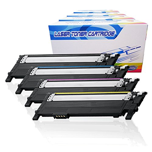 Inktoneram Compatible Toner Cartridges Replacement for Samsung CLP365 CLP-365 406S CLT-406S CLP-360 CLP-365W CLX-3305 CLX-3305FN CLX-3305FW Xpress C410W C460FW ([Black,Cyan,Magenta,Yellow], 4-Pack)