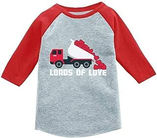 Mother's Day Dump Truck Loads of Love 3/4 Sleeve Baseball Jersey Toddler Shirt