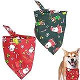 Xinlie Bandanas Navideñas para Mascotas Babero Baberos Triángulo Bandanas Bandana Perro de Navidad Pañuelo Bufanda de Mascota Navidad Bufanda de Algodón para Mascotas para Perros y Gatos(2 Piezas)
