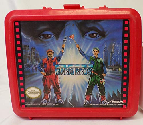 ORIGINAL Vintage 1993 Aladdin Super Mario Brothers Movie Plastic Lunch Box