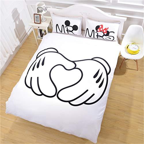 ADGAI Luxe veren Bed Set met dekbedovertrek en kussenslopen, dubbele hypoallergene zachte microvezel dekbedovertrekset voor slaapkamerdecoratie