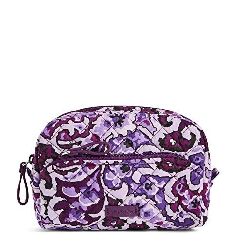Vera Bradley Women's Signature Cotton Mini Cosmetic Makeup Bag, Lilac Paisley, One Size