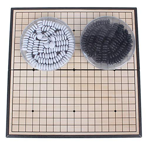 FEANG Tablero Juego de Mesa de Piedra magnética Juego Completo 19 x 19 Línea Weiqi Ajedrez y Damas