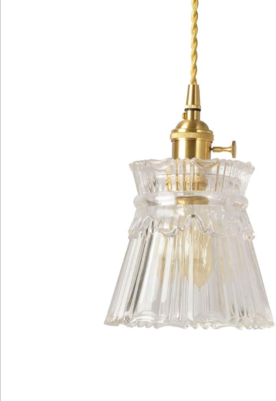 Vintage Moderne 1-Light Hngende Anhnger Leuchte Klarglas Schatten mit Messing Hhe Deckenleuchte für Kitchen Island