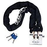 MLOCK Heavy Duty Bike Chain Lock, Hardened Steel Security Anti-Theft Bicycle Chain and Lock Kit with Keys for Bike, Motorcycle, Bicycle, Door, Gate, Fence, Grill (8mm Thick Chain)