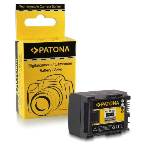 Bateria BP-808 para Canon Legria HF-M31 HD | HF-M36 HD | HF-M306 HD | HF-S10 HD | HF-S20 HD | HF-S21 HD | HF-S200 HD | Canon VIXIA HF G10 | HF G20 | HF M30 | HF M40