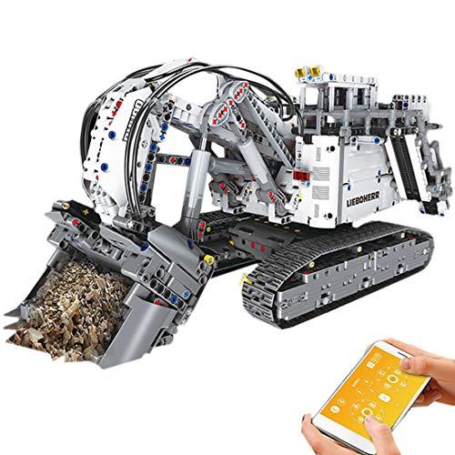 GUDA Technic Excavator Building Kit, 4062Pcs 2.4G Excavadora de Control Remoto Construcción de Camiones Bloques de construcción Juego de Juguetes, Compatible con Lego Technic