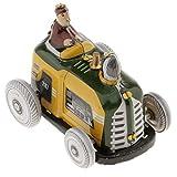 MagiDeal Jouet Mécanique Ancien Métal Jeep Tank Moto Tracteur Avion Modèle Liquidation Clockwork étain Jouet de Collection Cadeaux Enfants - Multicolore, Dimensions (L xlx H): 6,5 x 5 x 5 cm
