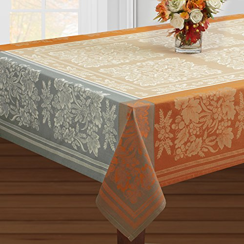 "Benson Mills Gathering Harvest Engineered Jacquard Tablecloth (60"" X 104"" Rectangular, Taupe)"