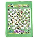 Eleusine Schlangen- und Leiterspiel Set-Portable Game, geeignet für alle Altersgruppen | Spaßgeschenke für Kinder und Erwachsene