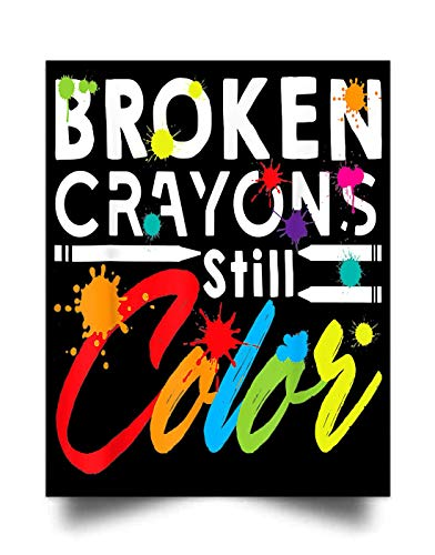 Broken Crayons Still Color (17'x22') Wall Art Print Poster Home Decor