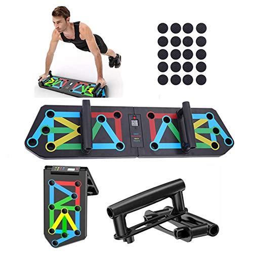 Tabla de Flexiones 13 En 1, Push Up Board con Contador Digital, Tabla de Abdominales Multifunción Plegable, Entrenamiento Muscular Entrenamiento Gimnasio Equipo de Fitness (13 en 1 con encimera)