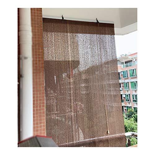 YJFENG Vela Parasol Exterior, Tejido Transpirable Pantalla De Privacidad Panel De Aislamiento, Luz De Filtro para Pérgola De Porche, con Gancho De Tiro (Color : Brown, Size : 120x160cm)