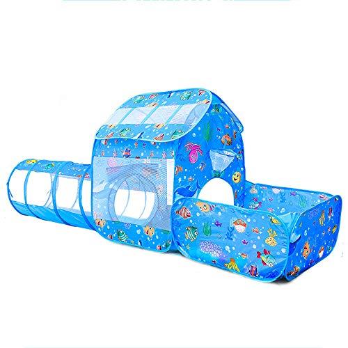 ZXCVBNM Tienda Infantil Play House Tres en uno Bebé Bebé Juguete Plegable Tiro Plegable Ocean Ball Pool
